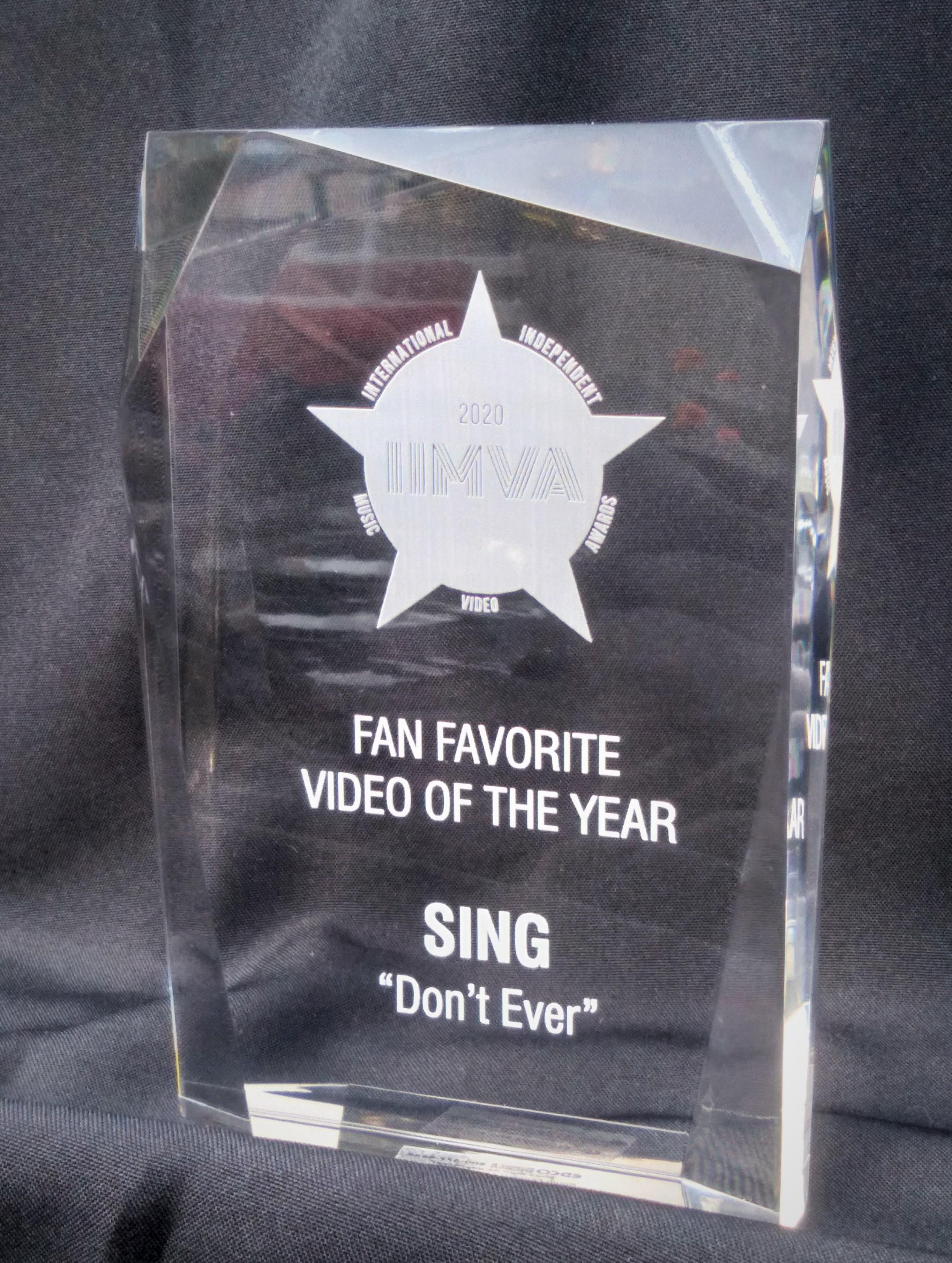 SING - Fan Favorite of the Year 2020